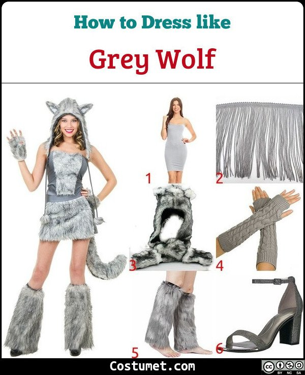 Grey Wolf Costume for Cosplay & Halloween