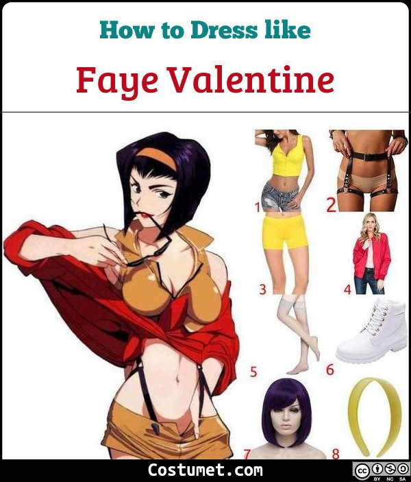Faye Valentine Costume for Cosplay & Halloween