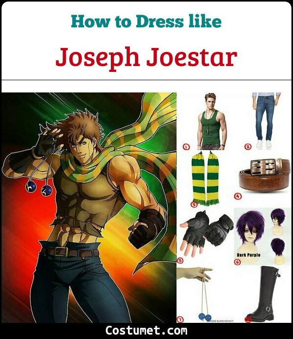 Joseph Joestar Costume for Cosplay & Halloween