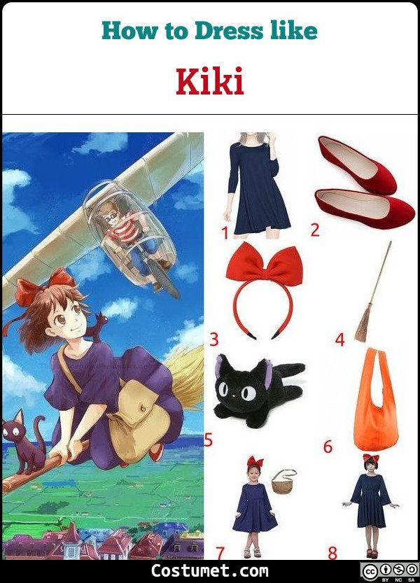 Kikis Delivery Service Costume for Cosplay & Halloween