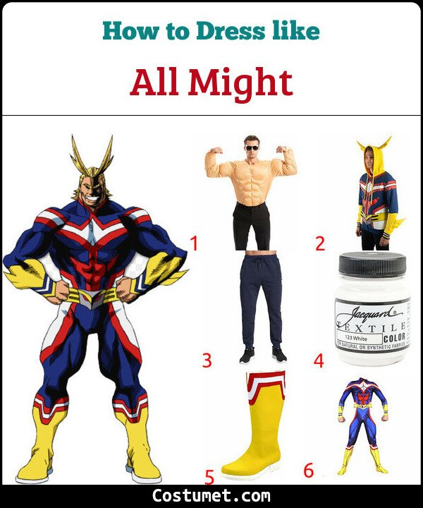 All Might Costume for Cosplay & Halloween