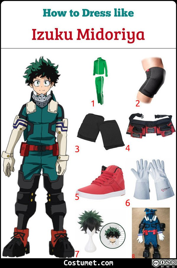 Izuku Midoriya Costume for Cosplay & Halloween