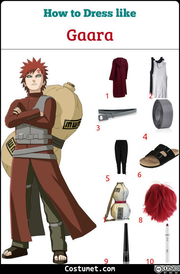 Gaara Costume for Cosplay & Halloween