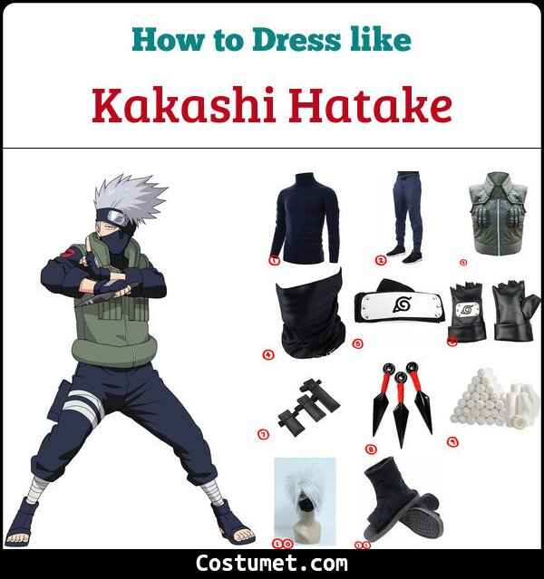 Kakashi Hatake Costume for Cosplay & Halloween