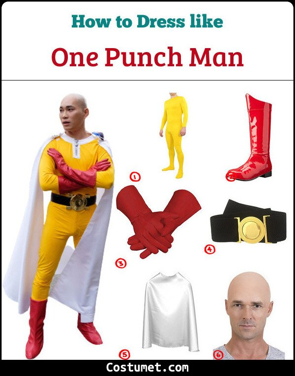 One Punch Man Costume for Cosplay & Halloween
