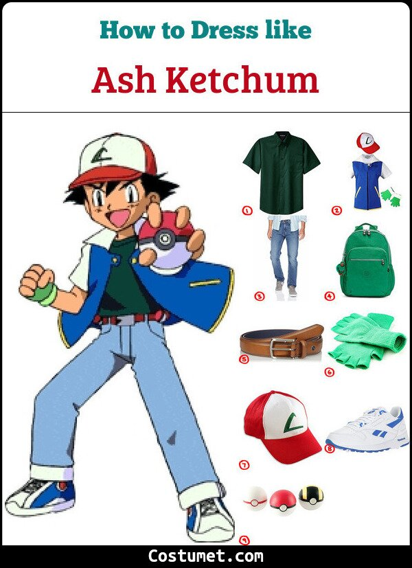 Ash Ketchum Costume for Cosplay & Halloween