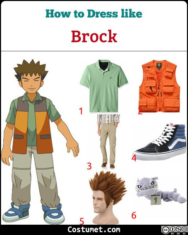 Brock Costume for Cosplay & Halloween