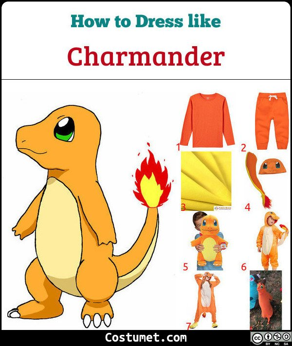 Charmander Costume for Cosplay & Halloween