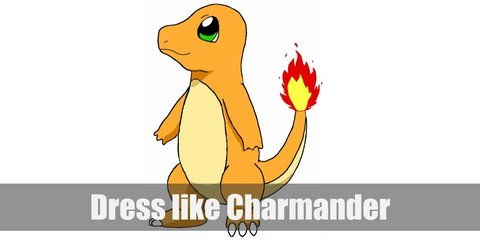 Charmander is a Fire Lizard Pokemon who looks like a cute, baby dinosaur. It is mostly orange with a round head. It has a light yellow underbelly. It also has a flame at the end of its long tail.