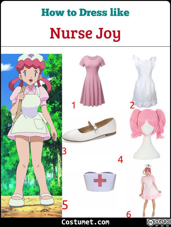 Nurse Joy Costume for Cosplay & Halloween
