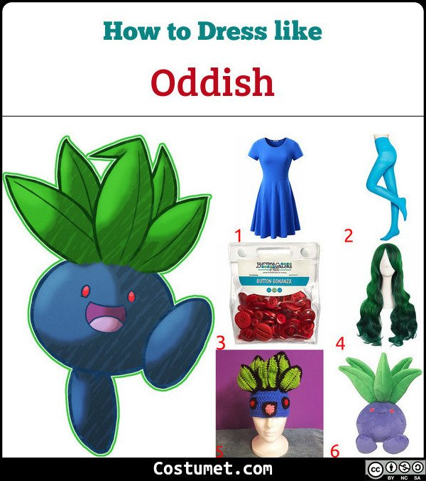 Oddish Costume for Cosplay & Halloween