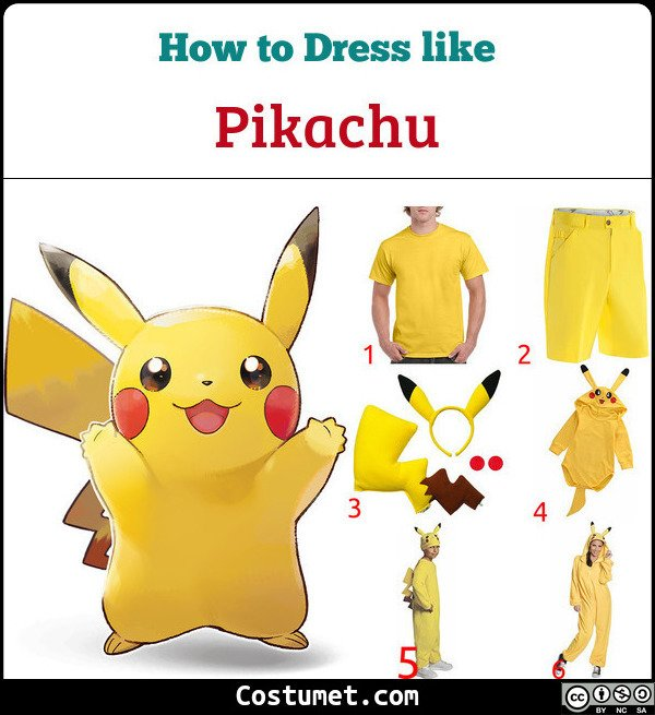 Pikachu Costume for Cosplay & Halloween