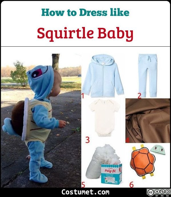 Squirtle Baby Costume for Cosplay & Halloween