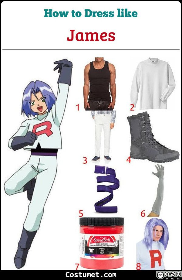 James from Team Rocket Costume for Cosplay & Halloween
