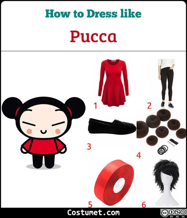 Pucca Costume for Cosplay & Halloween