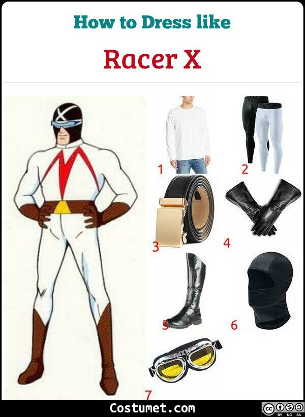 Racer X Costume for Cosplay & Halloween
