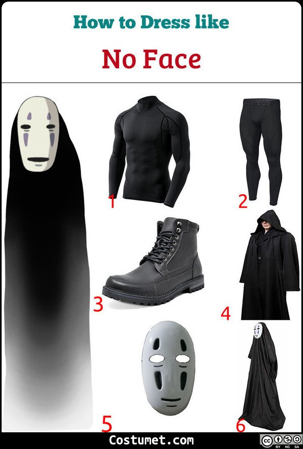 No Face Costume for Cosplay & Halloween