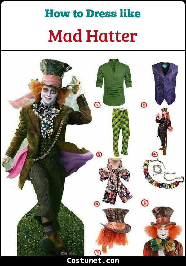 Mad Hatter Costume for Cosplay & Halloween