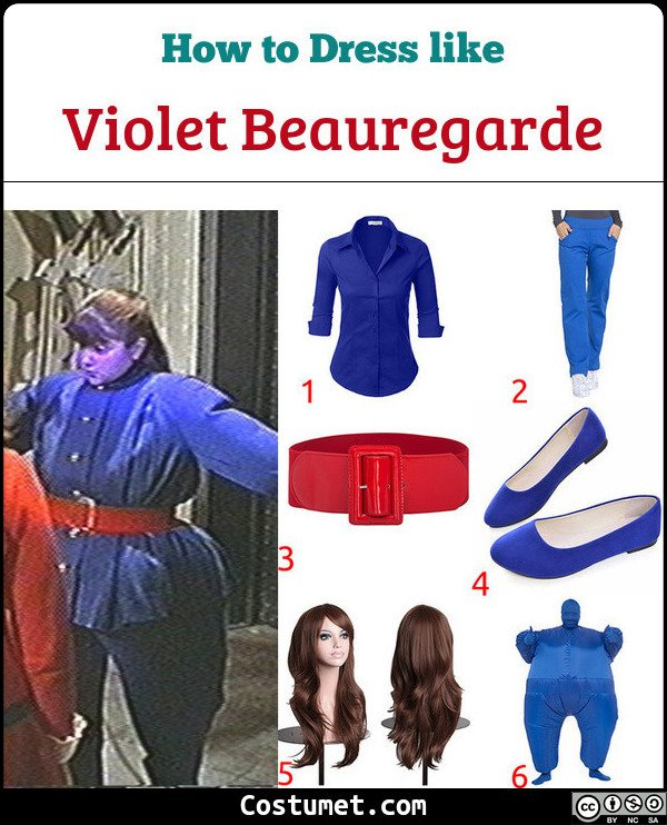 Violet Beauregarde Costume for Cosplay & Halloween