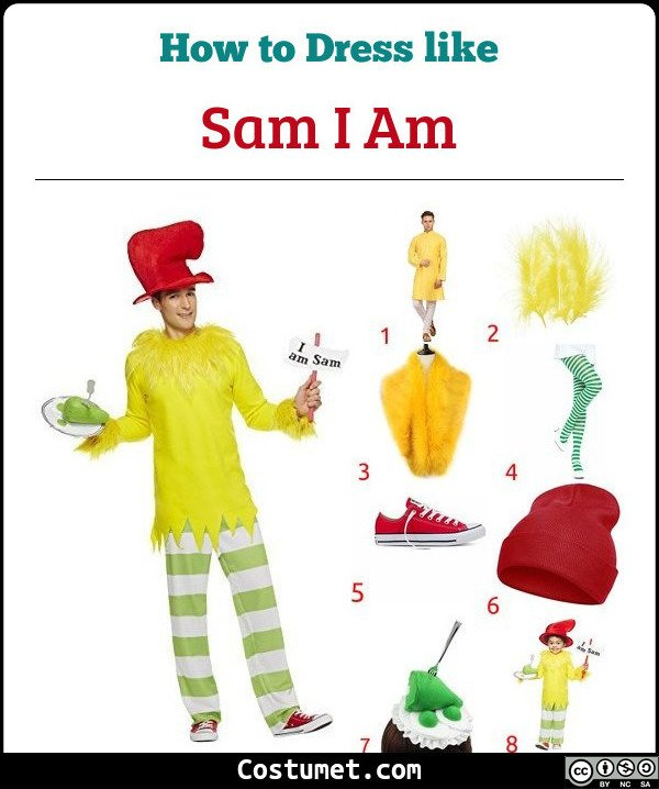 Green Eggs And Ham Costume for Cosplay & Halloween