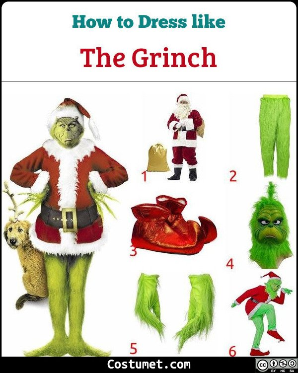 The Grinch Costume for Cosplay & Halloween