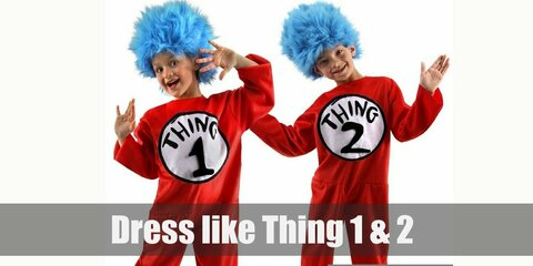 Thing 1 and Thing 2 (Cat in the Hat) Costume