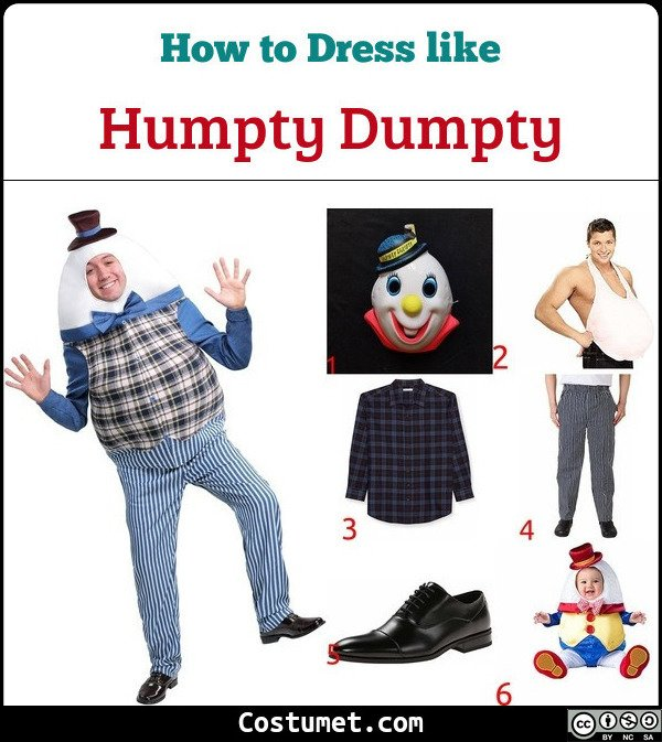 Humpty Dumpty Costume for Cosplay & Halloween