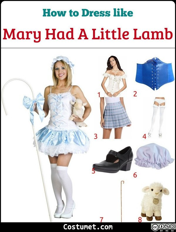 Mary Had A Little Lamb Costume for Cosplay & Halloween
