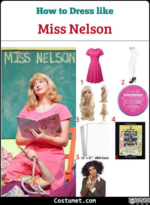 Miss Nelson Costume for Cosplay & Halloween
