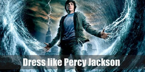 For Percy Jackson costume you will need to wear his orange Camp Half-Blood shirt, denim shorts, brown leather armor, and his camp necklace.