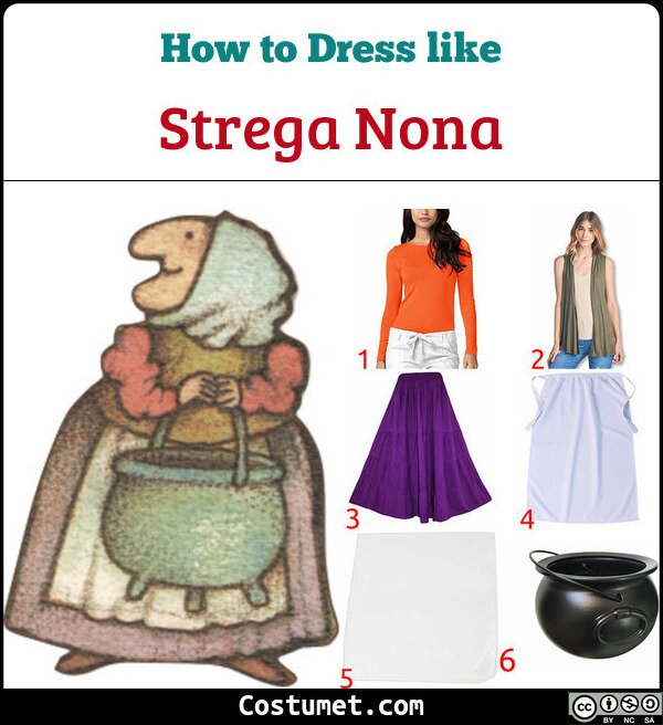 Strega Nona Costume for Cosplay & Halloween