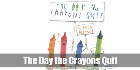 The day the crayons quit costume is solid-colored pajama sets and matching hats and you'll be off to a great start. Hold paddle boards, too!