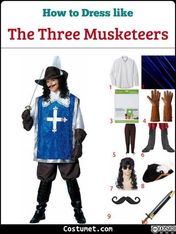 The Three Musketeers Costume for Cosplay & Halloween