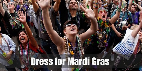 Unlike Halloween which shows more death-related outfits like zombie and blood, Mardi Gras revels in bright, colorful, and zesty costumes.