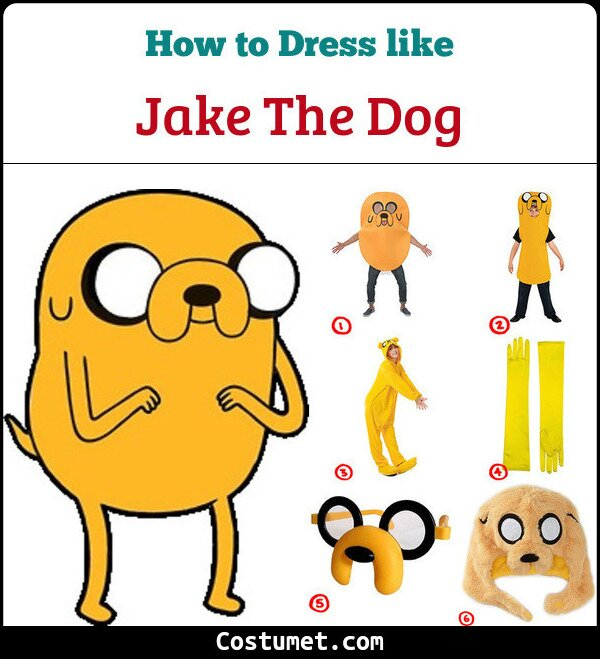 Become Jake the Dog from Adventure Time Costume for Cosplay   Halloween 7ca55cb37