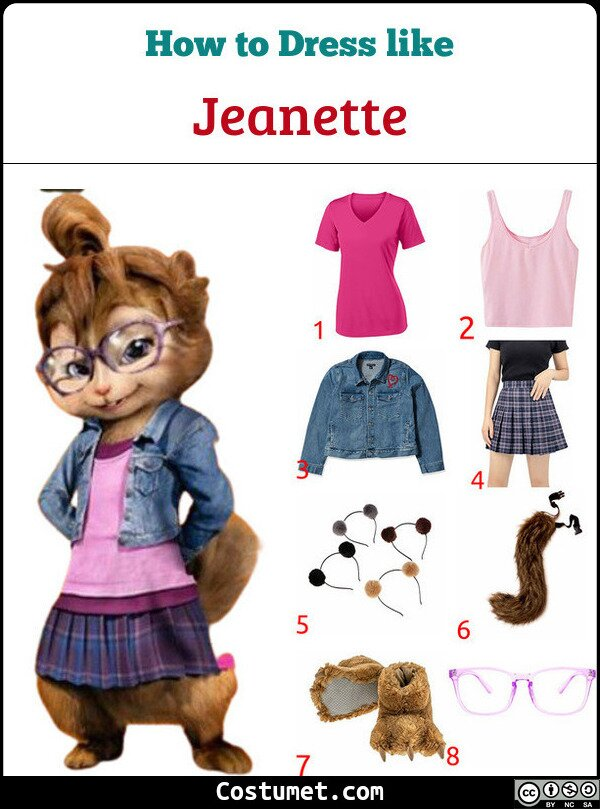 Jeanette Costume for Cosplay & Halloween