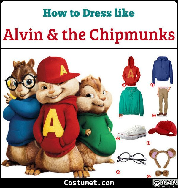 Alvin And The Chipmunks Costume for Cosplay & Halloween