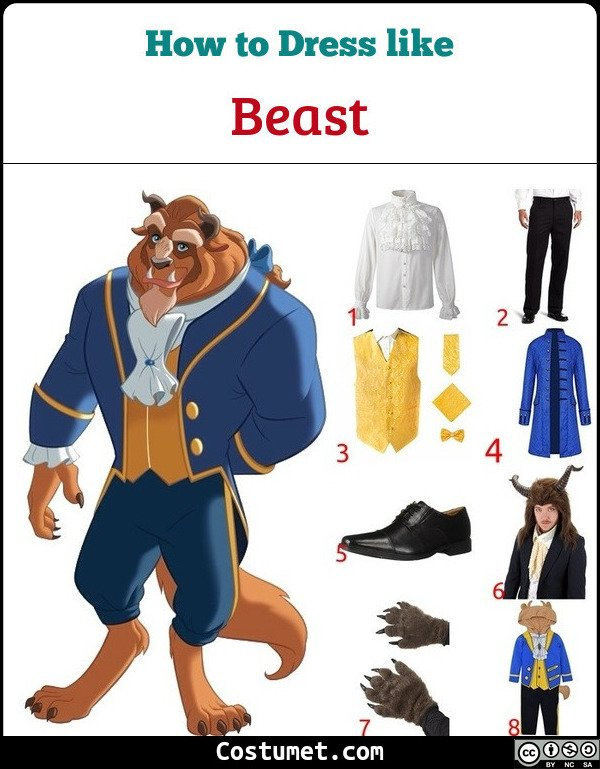 Beauty And The Beast Costume for Cosplay & Halloween
