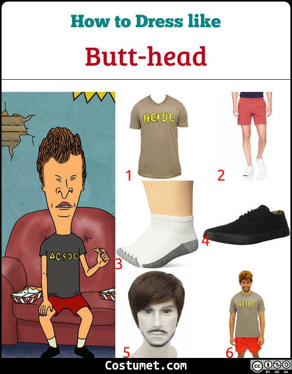 Butt Head Costume for Cosplay & Halloween