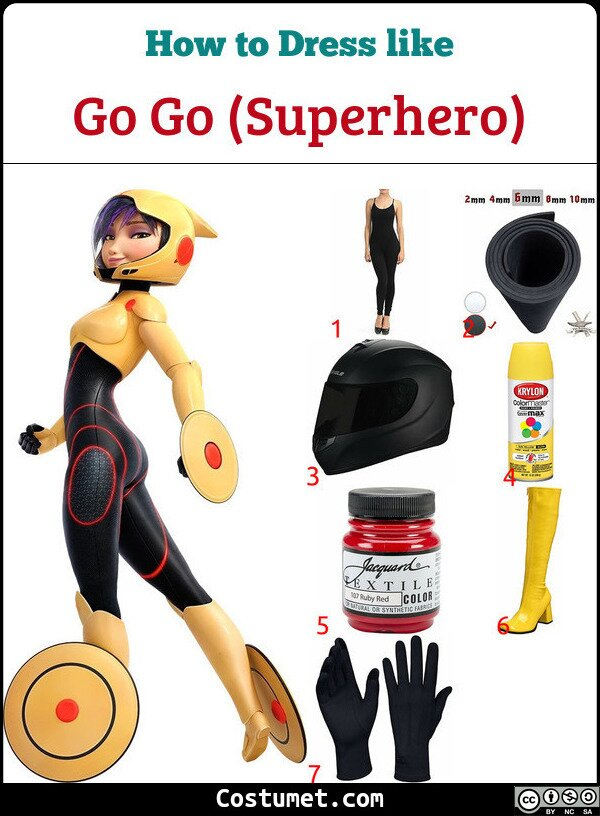 Go Go (Superhero) Costume for Cosplay & Halloween