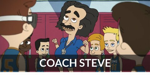 Coach Steve (Big Mouth) Costume