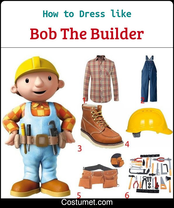 Bob The Builder Costume for Cosplay & Halloween