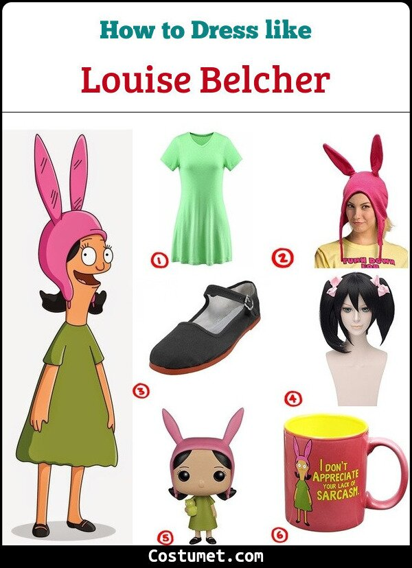 9f5ebbc8cbc Dress like Louise Belcher Costume for Cosplay   Halloween