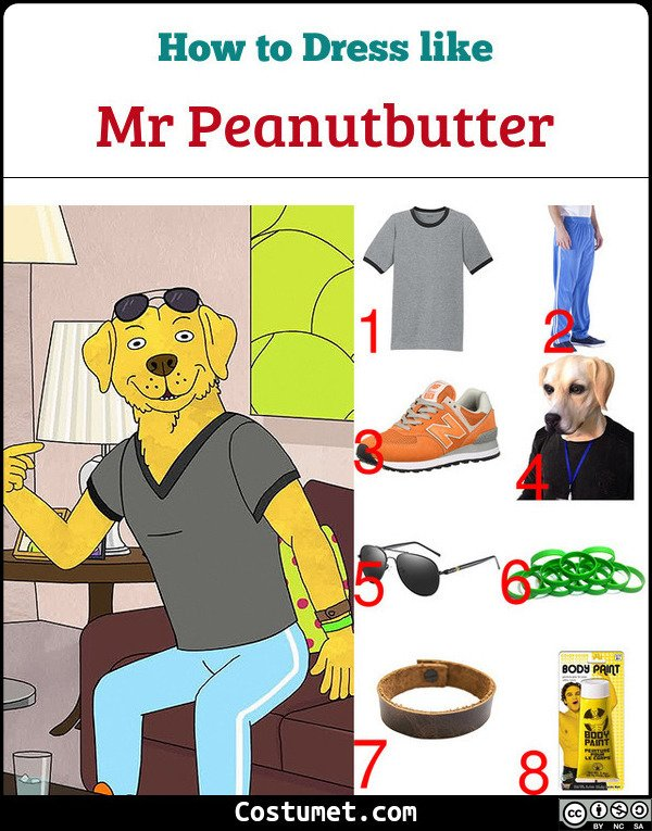 Mr Peanutbutter Costume for Cosplay & Halloween