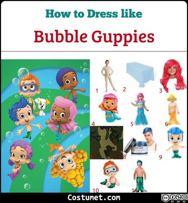 Dress Like Bubble Guppies Costume for Halloween 2019