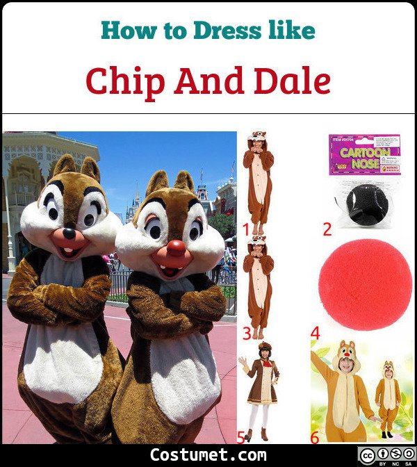 Chip And Dale Costume for Cosplay & Halloween