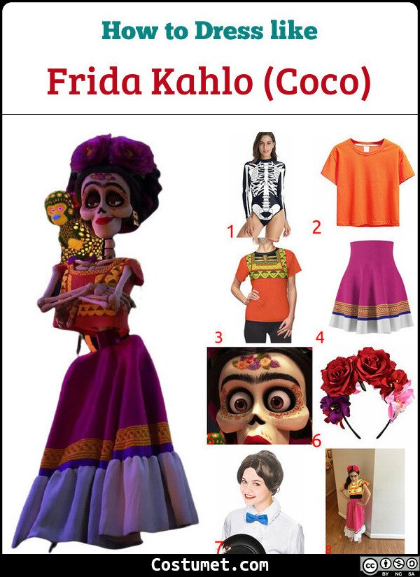 Frida Kahlo (Coco) Costume for Cosplay & Halloween