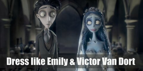 Dress Like Emily and Victor Van Dort (Corpse Bride) Costume
