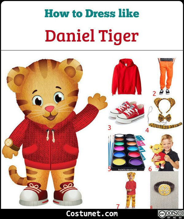 Daniel Tiger Costume for Cosplay & Halloween