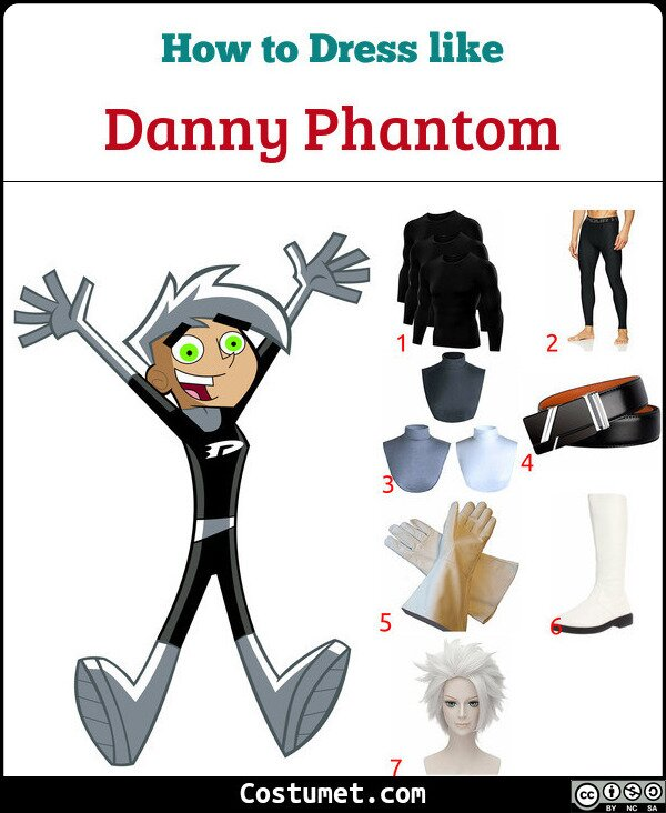 Danny Phantom Costume for Cosplay & Halloween